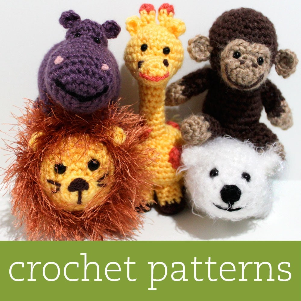 CROCHET PATTERN SET Amigurumi Zoo Animals by BricabracaBaby