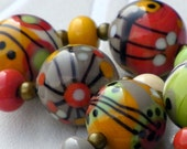 Make a Wish - Handmade Lampwork Bead Set (11) by Anne Schelling, SRA