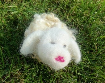 Dream Ambassador (Natural Fleece Needle Felted Sheep)