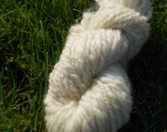 Undyed White Merino, Silk, Baby Camel Handspun Yarn: For the Love of a Fawn