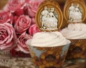 18th Century Paris - Marie Antoinette Style - Printable Cupcake Topper And Wrapper Set - Simply Print, Cut, Assemble, Enjoy