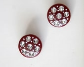 2 Pieces Of Rhinestone Buttons For Fashion Projects Costumes Altered Couture Dresses And More