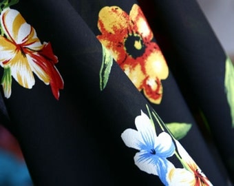 Fancy Fabric With Flowers For Gowns, Dresses, Fashion Projects, Altered Couture, Costume or Jewelry Design