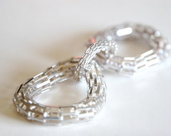 1 Piece Silver Metal Woven Buckle Piece For Fashion Projects Costumes Altered Couture Dresses And More