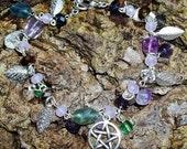 Crystal & Glass Pentacle Bracelet