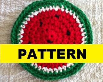 CROCHET PATTERN - WATERMELON Coaster Pattern
