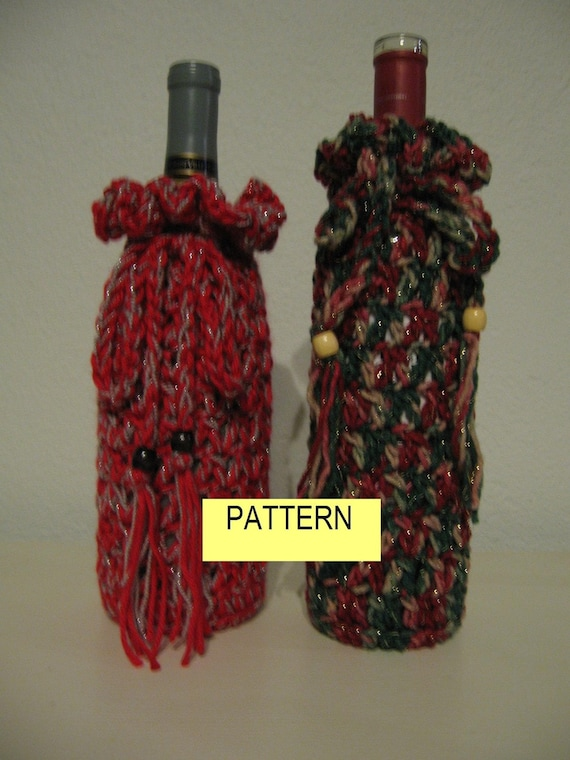 Free Crochet Patterns For Christmas Gift Bags : Crochet Pattern / BOTTLE GIFT BAG / Holiday by ...