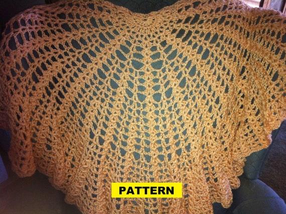 Crochet Pattern / SHELL SHAWL