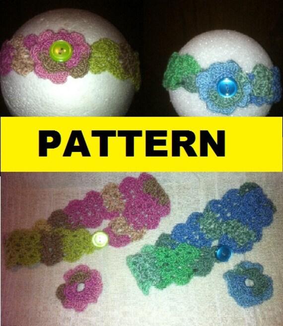 Crochet Pattern / SCALLOPED SHELLS Baby HEADBAND