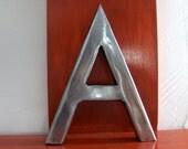 Scrap metal Letter A Handmade