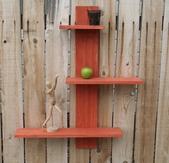 Handmade funky wall shelf