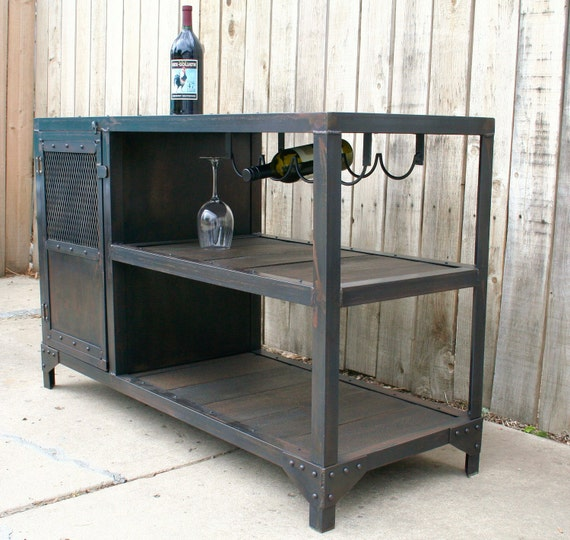 Wood And Metal Industrial Kitchen Cart: Industrial Metal And Reclaimed Industrial Wood Table By JReal