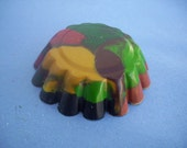 Camouflage - 1 Handmade Crayon