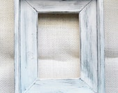 11x14 White Rustic Weathered Box Style Picture  Frame
