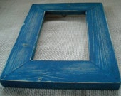 5x7 Rustic Picture frame Blue Rustic Weathered style