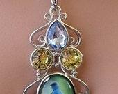 Bluebird Pendant Necklace(sku421)