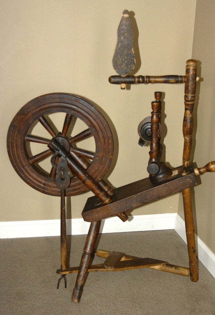 Antique Primitive Saxon Style Spinning By Countrysideantiques