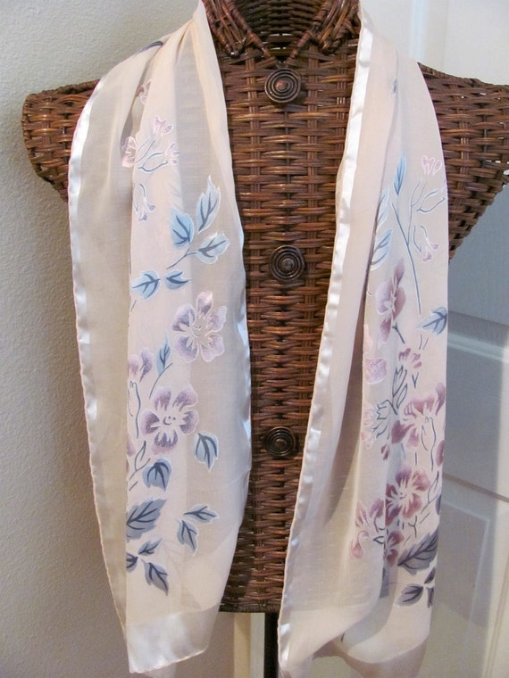 Beautiful Unique Ladies Hand Rolled Pale Pink Silk Scarf - 13 x 60 Long --- Best of the Best