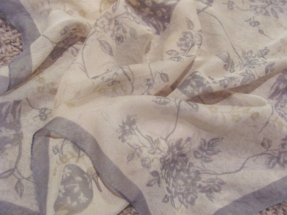 Beautiful Small Pink Gray Sheer Scarf - 20 x 20 Square