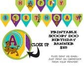 Printable DIY Scooby Doo inspired Theme Birthday Banner