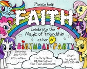Printable DIY Pony Friends Birthday Party Invitations