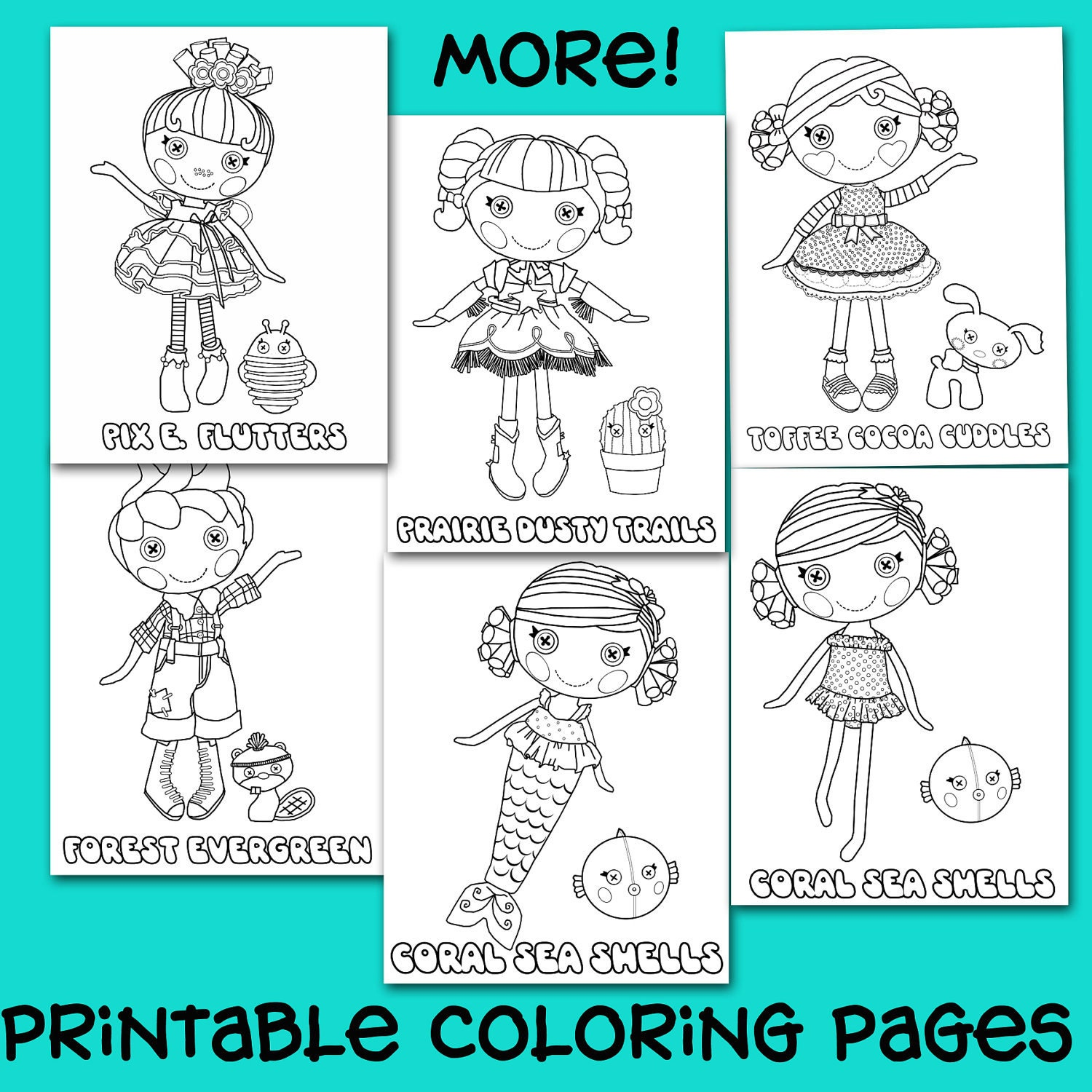 Lalaloopsy Coloring Pages Pdf : Printable button doll coloring pages
