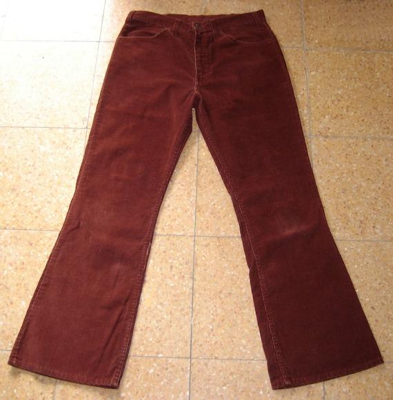 Vintage JC PENNEY PLAIN POCKETS Bootcut Flare Corduroy Jeans 32x31 Rust Cords 32 x 31