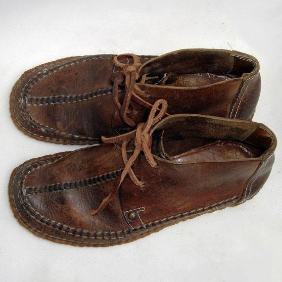 MEN US 11 VINTAGE LOOK HANDAMDE LEATHER SANDAL SHOES BOHO ... |Hippie Mens Leather Sandals
