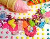 Barbie Gummi Yummy Super Chunky Charms Lolita Kitsch Kawaii Bracelet