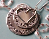 Families are Forever Necklace,Personalized Hand Stamped Family Necklace, Sterling Silver