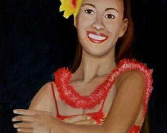 Hula Dance the Gesture of Love origial oil painting by artist McCartney