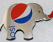 Recycled Soda Can Art--Large Elephant Magnet