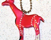 Recycled Soda Can Art- --SMALL Giraffe Charm Necklace