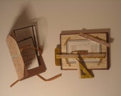 ON SALE (2011) Miniature Architectural Drawing Board and Work with Portfolio