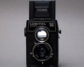 Lomo Lubitel 166 Vintage Camera and Case - 1977 - 120 Film Twin Lens Reflex to Shoot from the Hip