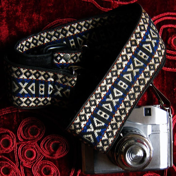 Vintage Tapestry Camera Strap - 1970's, Groovy and Hip
