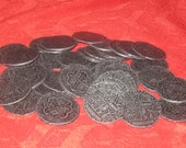 Wholesale Lot of 25 Pewter Silver Tone Pirate Coins
