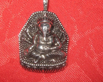 LARGE 33MM Detailed  Steel  Ganesh Pendant