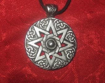 Ishtar ocho puntas estrella Wicca pagana collar