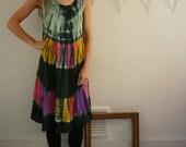 Indian Tie Dye Festival Folk Dress One Size