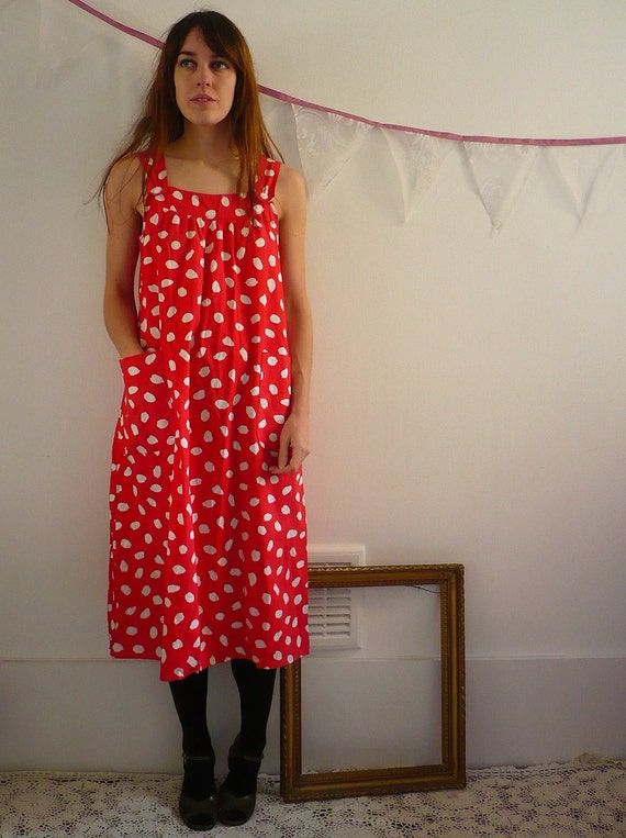 Vintage Smock Sundress Size Small