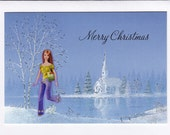 Barbie Christmas cards, set of four from Lolailo