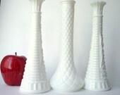 Vintage Milk Glass Vases, Instant Collection