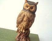 Vintage Owl Figurine Brown