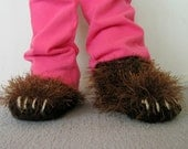 5 Inch Bear Paw Slippers