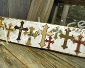 Wallboard of crosses - you pick the colors