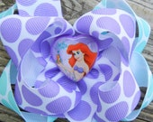 Hairbow / The Little Mermaid /  Ariel /  Double-layer / Boutique hair bow