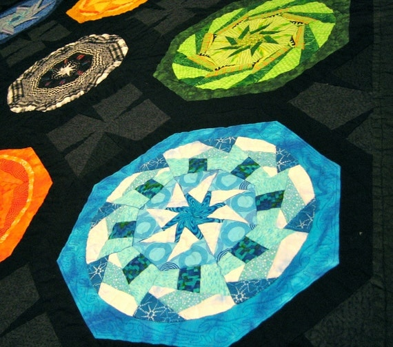 Quilt -Contemporary Geometric - OOAK - Kaleidoscope Dreams - Ready to Ship - Malibu Quilts