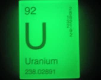 In Your ELEMENT - Periodic Table Soap - URANIUM - GLOWS in the Dark - Vegan