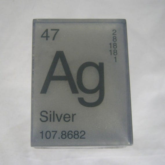 In Your ELEMENT - PERIODIC Table Soap - SILVER - Ag - Vegan